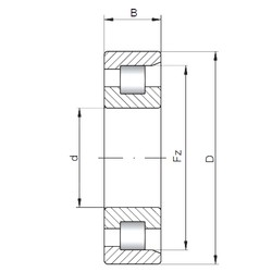 240 mm x 440 mm x 120 mm  Loyal NF2248 cylindrical roller bearings