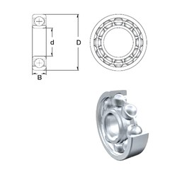 5 mm x 16 mm x 5 mm  ZEN 625 deep groove ball bearings