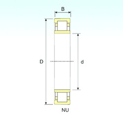 17 mm x 47 mm x 14 mm  ISB NU 303 cylindrical roller bearings