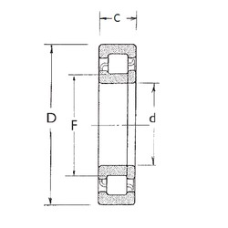 75 mm x 130 mm x 31 mm  FBJ NUP2215 cylindrical roller bearings