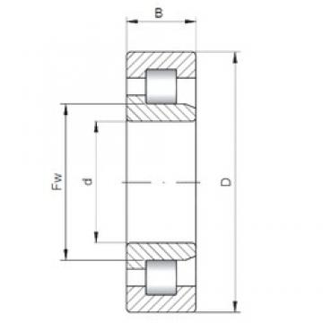 190 mm x 260 mm x 33 mm  ISO NJ1938 cylindrical roller bearings