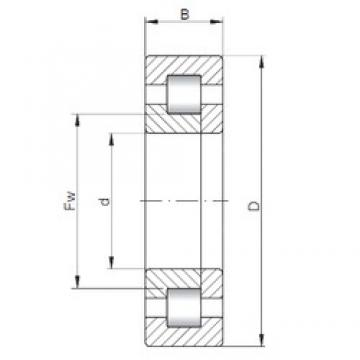 220 mm x 300 mm x 38 mm  ISO NUP1944 cylindrical roller bearings