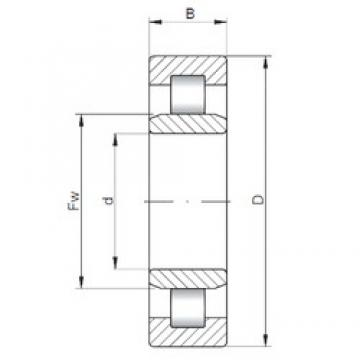 220 mm x 300 mm x 38 mm  ISO NU1944 cylindrical roller bearings