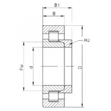 190 mm x 290 mm x 46 mm  ISO NH1038 cylindrical roller bearings