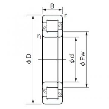70 mm x 150 mm x 51 mm  NACHI NUP 2314 E cylindrical roller bearings