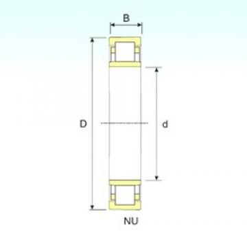 190 mm x 290 mm x 46 mm  ISB NU 1038 cylindrical roller bearings