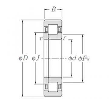 85 mm x 180 mm x 60 mm  NTN NUP2317E cylindrical roller bearings