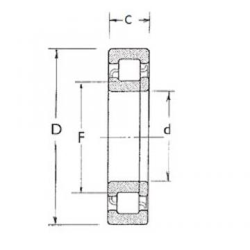 70 mm x 150 mm x 51 mm  FBJ NUP2314 cylindrical roller bearings