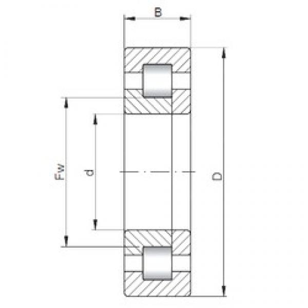70 mm x 150 mm x 51 mm  ISO NUP2314 cylindrical roller bearings #1 image