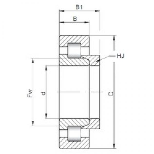 240 mm x 440 mm x 120 mm  ISO NH2248 cylindrical roller bearings #1 image