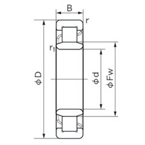 70 mm x 150 mm x 51 mm  NACHI NU 2314 cylindrical roller bearings #1 image