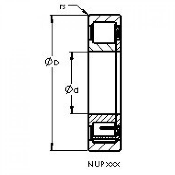 AST NUP2314 E cylindrical roller bearings #1 image