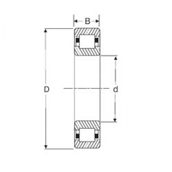 75 mm x 130 mm x 31 mm  SIGMA NUP 2215 cylindrical roller bearings #1 image